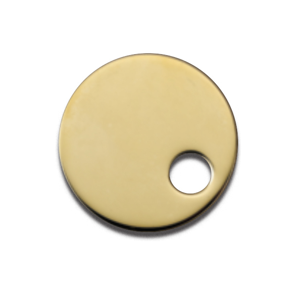Uncoated Polished Brass (Natural Brass)