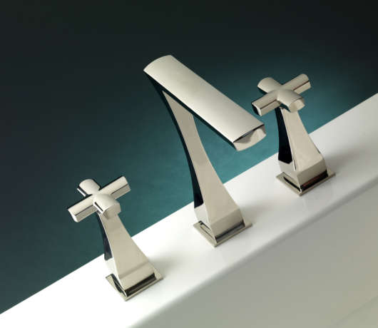 Chelsea W Cross Chrome Handles Deep Turquoise