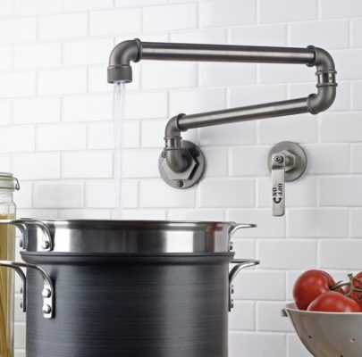 8 Incredible Kitchen Designs That Incorporate Wall Mounted Pot Fillers Image 3
