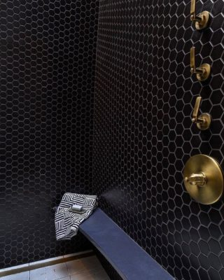 Brushed Brass Steam Shower