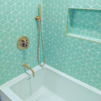 Tiffany Blue and Brass